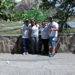 Coordenadores acompanhantes Cássia Moura, Suane Morais, Evangelista Morais e professor George Willian.
