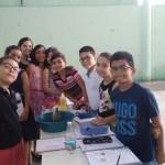Experiência: vulcão em erupção com a professora Ana Raquel.